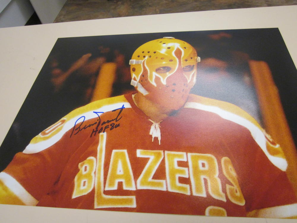 Bernie Parent Philadelphia Flyers Signed 11x14 photo COA BLAZERS
