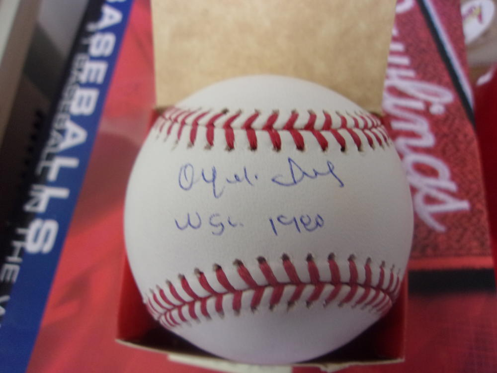 Orlando Isales Philadelphia Phillies Signed Official League Baseball COA Inscription