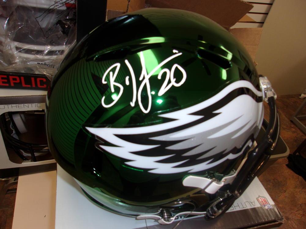 Brian Dawkins Philadelphia Eagles Signed Full Size Replica Chrome Helmet JSA