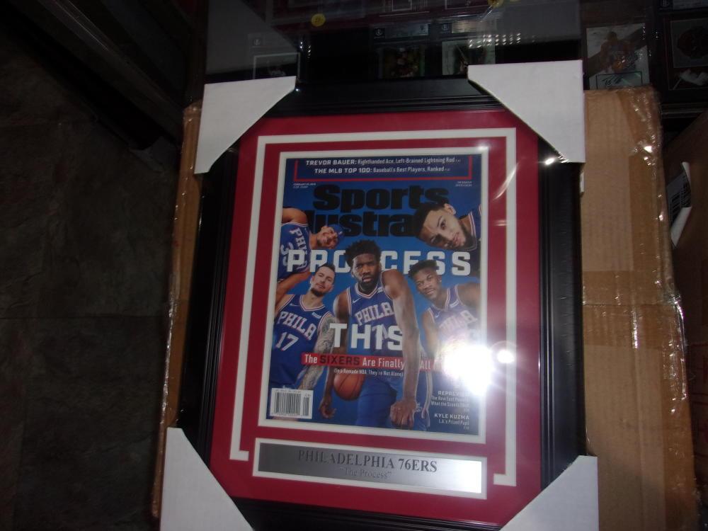 Philadelphia 76ers Sports illustrated THE PROCESS Framed Magazine 2019