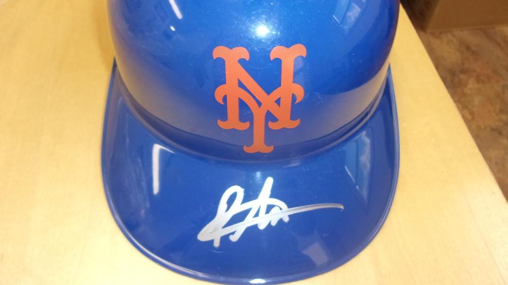 Pete Alonso New York Mets Signed Replica Batting Helmet COA