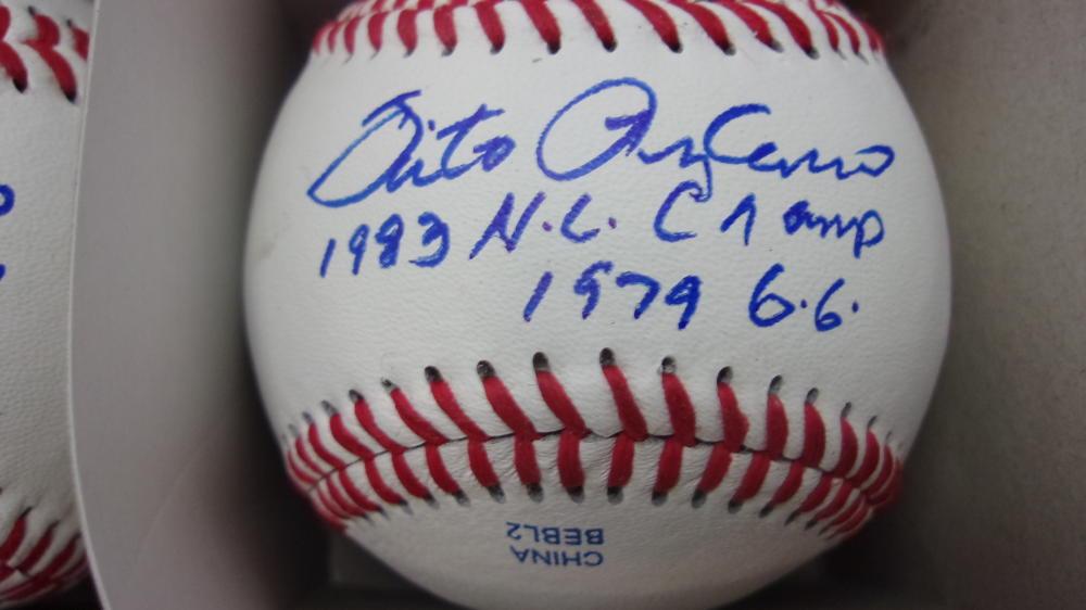 Sixto Lezcano Milwaukee Brewers/Phillies/Pirates Signed OLB Baseball COA 2 inscriptions