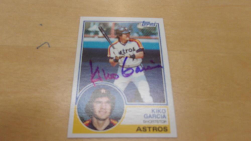 Kiko Garcia Houston Astros Signed 1983 Topps Card COA