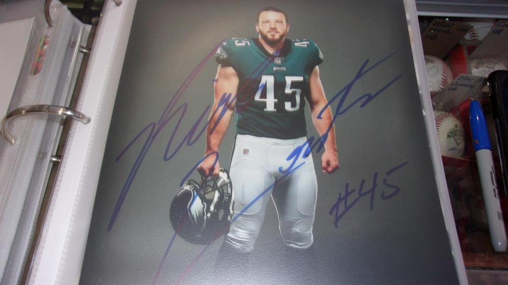 Rick Lovato Philadelphia Eagles Signed 8x10 Photo COA 4