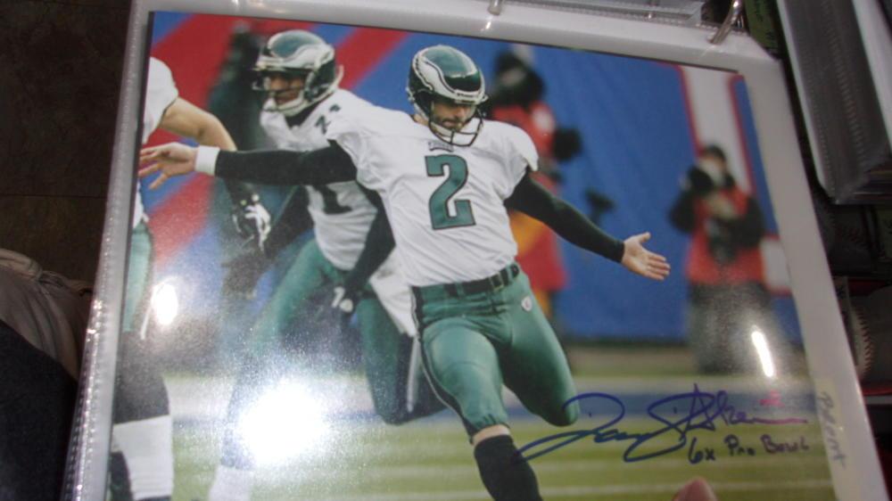 David Akers Philadelphia Eagles Signed 8x10 Photo COA 10