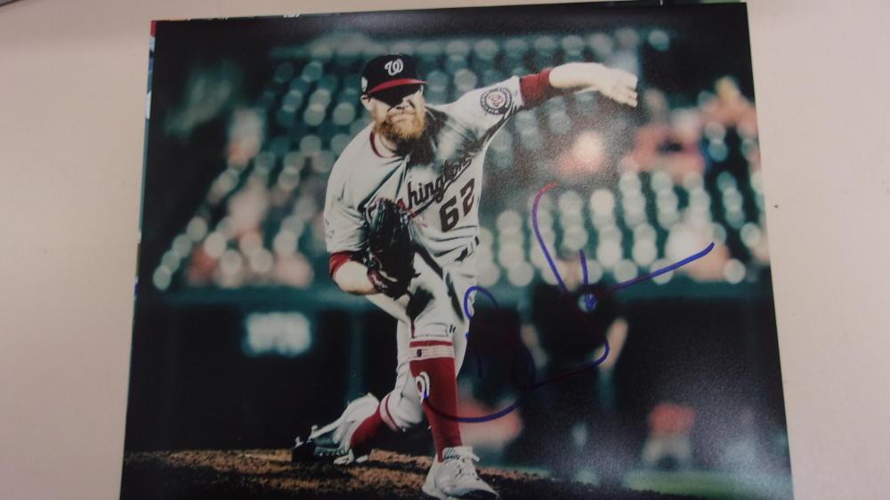 Sean Doolittle  Washington Nationals Signed 8x10 Photo COA