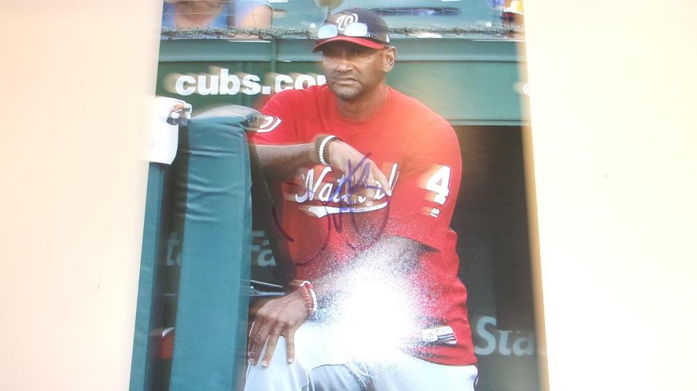 Dave Martinez Washington Nationals Signed 8x10 Photo COA