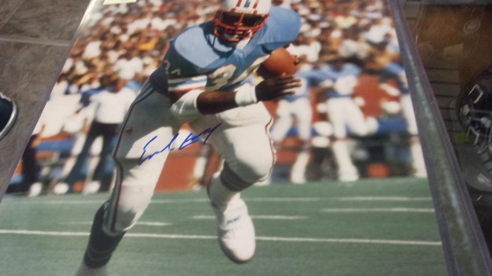 Earl Campbell Houston Oilers Signed 16x20 Photo COA
