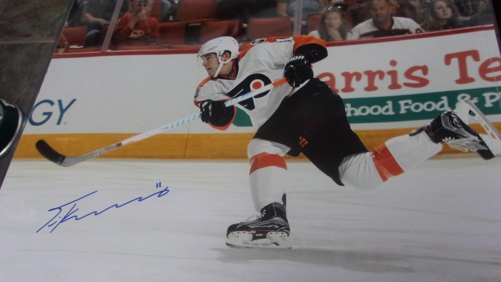 Travis Konecny Philadelphia Flyers Signed 16x20  Photo JSA 3