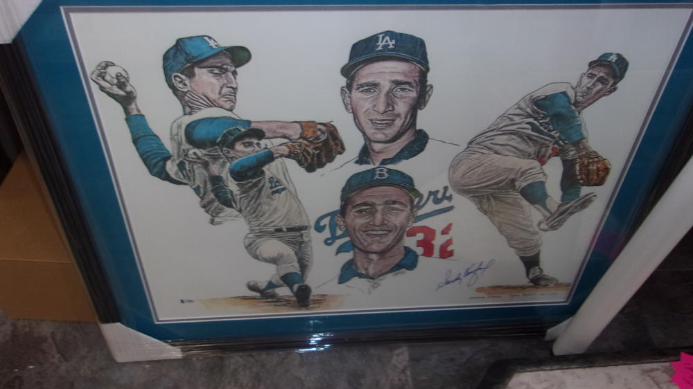 Sandy Koufax Los Angeles Dodgers Signed 20x24 Framed Litho  PSA