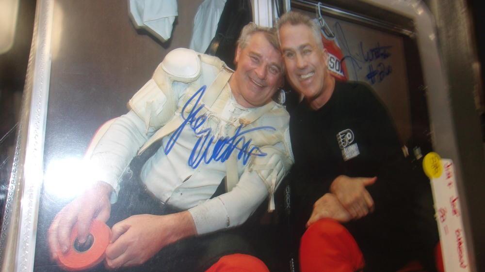 Joe and Jim Watson Philadelphia Flyers signed 8x10 Photo COA