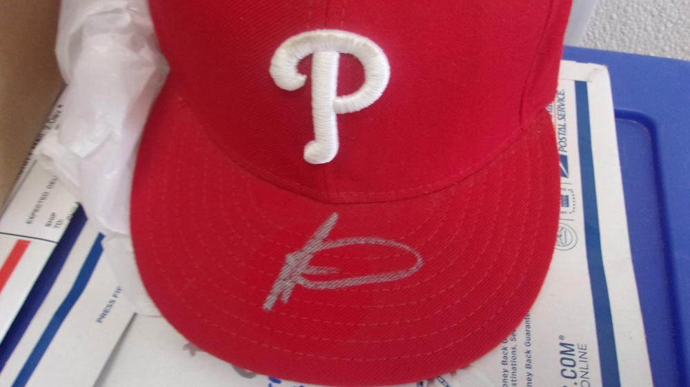 Adonis Medina  Philadelphia Phillies Signed Fitted Hat COA