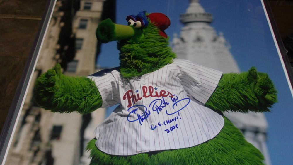 Phillie Phanatic Signed 16x20 World Series Parade Photo COA