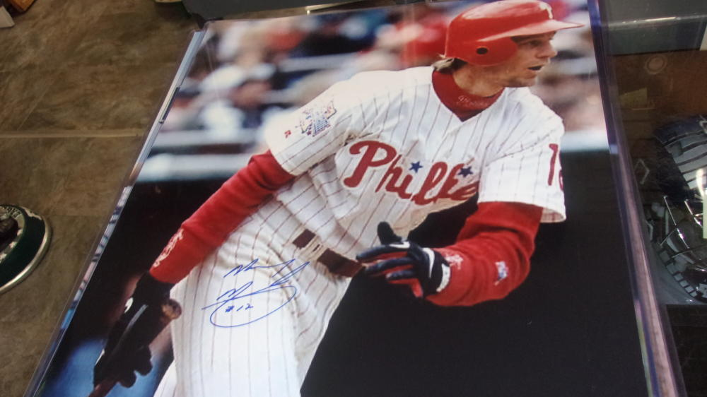 Mickey Morandini Philadelphia Phillies Signed 16x20 Photo COA