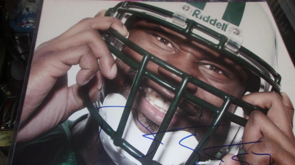 Bart Scott New York Jets Signed 11x14 Photo COA
