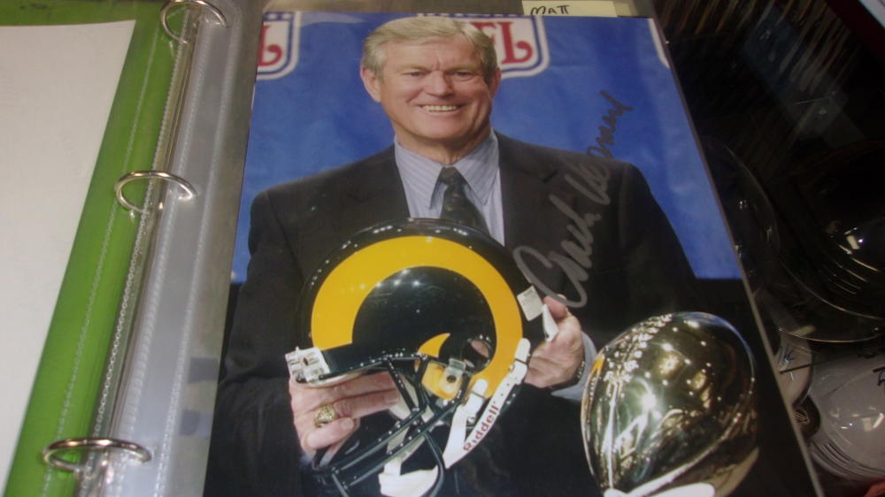 Dick Vermeil St Louis Rams Signed 8x10 Photo COA