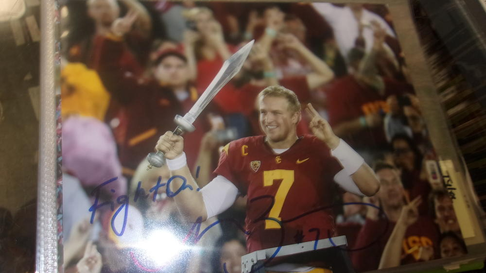 Matt Barkley USC Trojans Signed 8x10 Photo COA