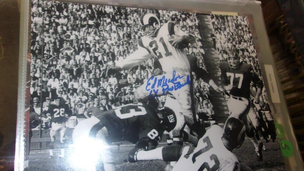 Eddie Meador Los Angeles Rams Signed 8x10 Photo COA