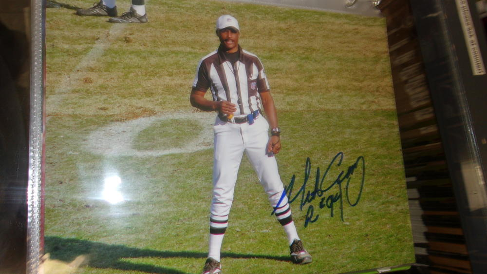 Mike Carey NFL Referee Signed 8x10 Photo COA