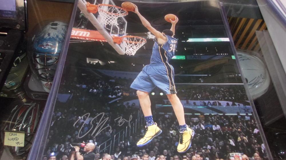 Javale McGee Washington Wizards  signed 11x14  Slam Dunk Photo COA