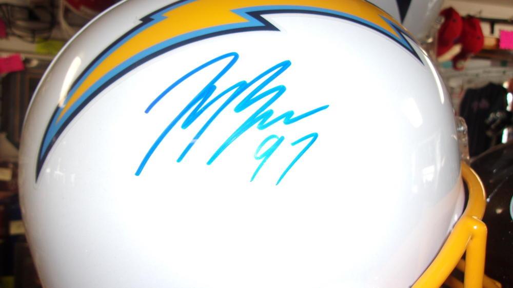 Joey Bosa San Diego Chargers Signed Full Size Replica Helmet JSA