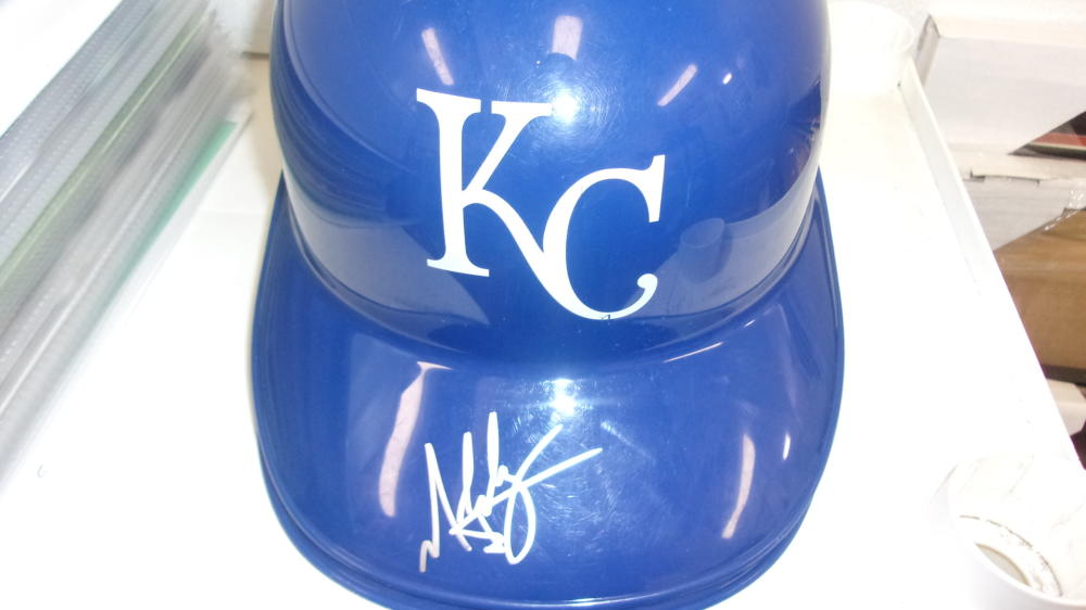 MJ Melendez Kansas City Royals Signed Batting Helmet COA