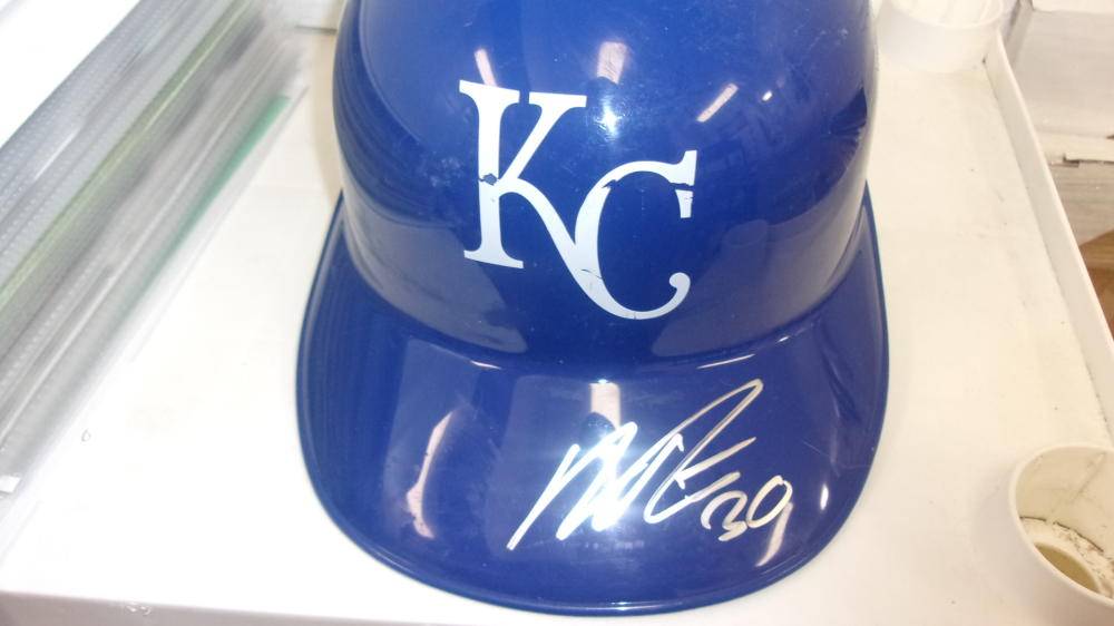 Nick Pratto Kansas City Royals Signed Batting Helmet COA