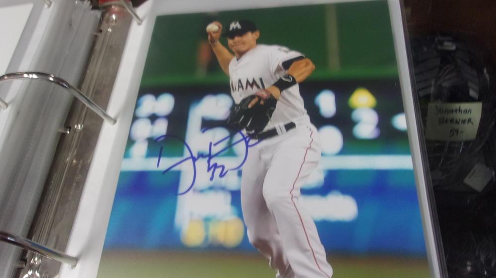 Derek Dietrich Miami Marlins Signed 8x10 Photo COA