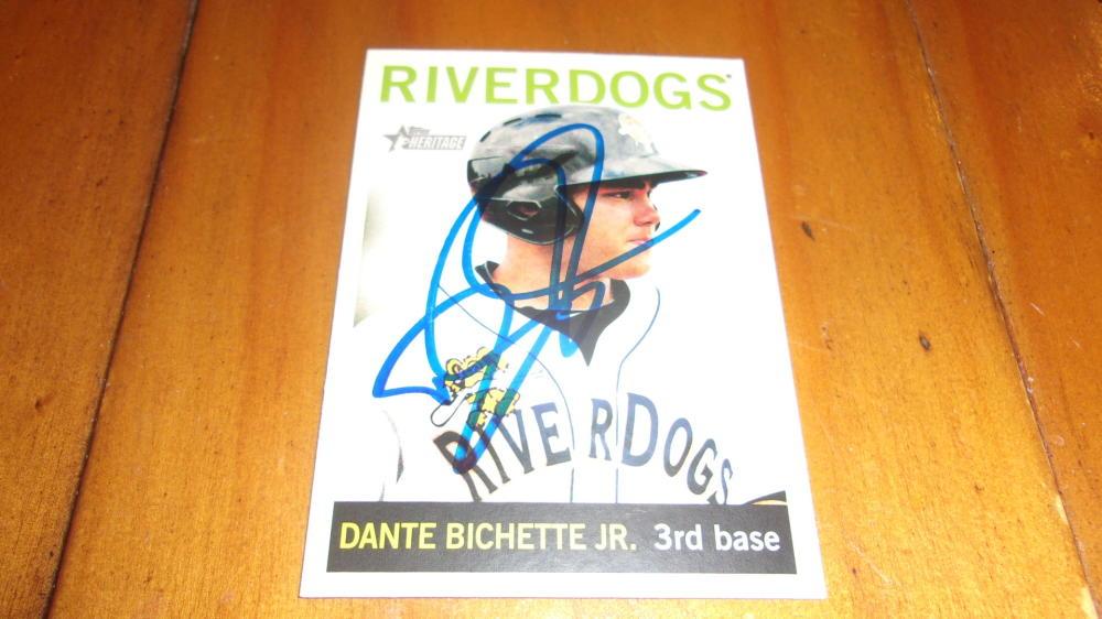 Dante Bichette Jr New York Yankees Signed 2013 Heritage Minors Base Card COA