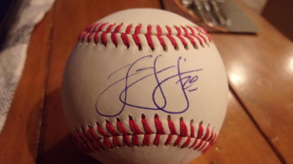 JD Davis New York Mets Signed OLB Baseball COA