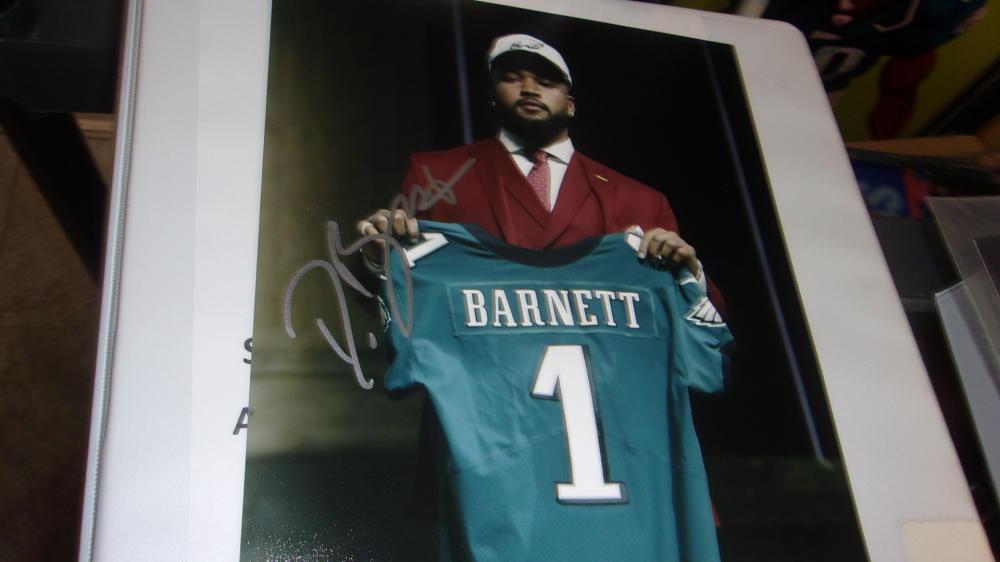 Derek Barnett Philadelphia Eagles Signed 8x10 Photo COA