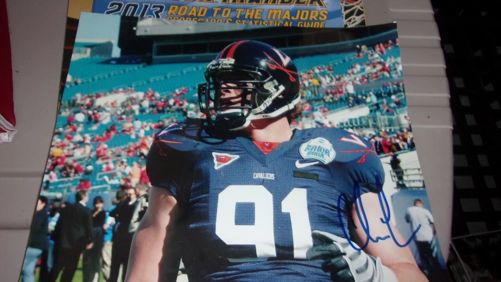 Chris Long Virginia/ Philadelphia Eagles Signed 8x10 Photo COA