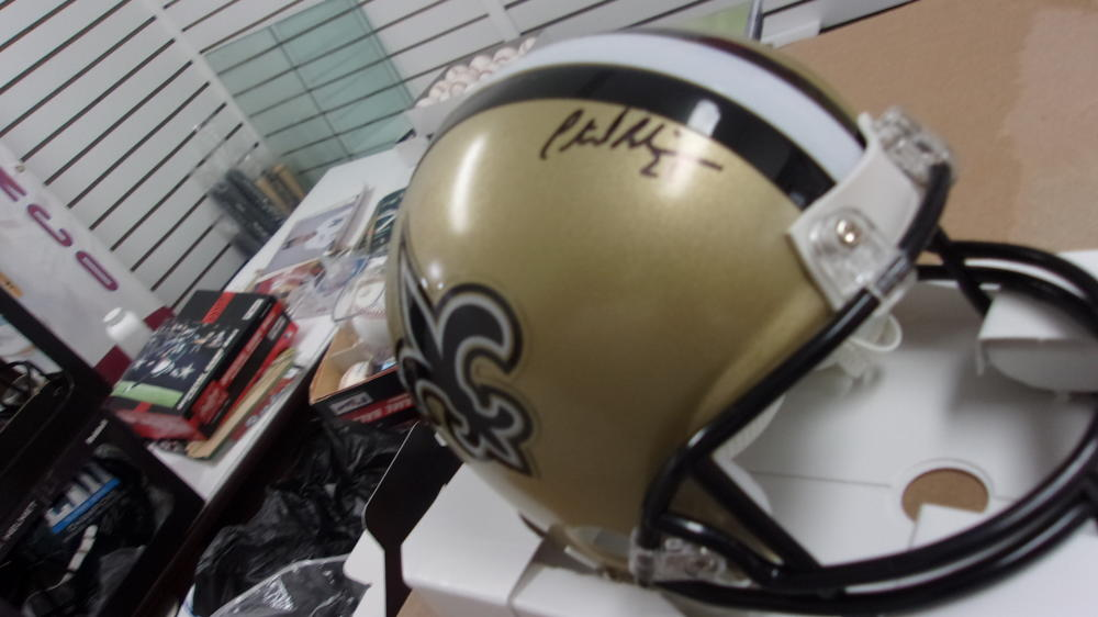 Patrick Robinson New Orleans Saints signed Mini Helmet COA