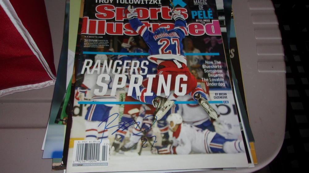 Ryan McDonough New York Rangers Signed Sports Illustrated   COA
