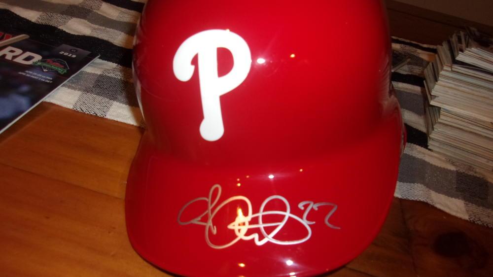 Andrew McCutchen Philadelphia Phillies Signed Official Batting Helmet COA