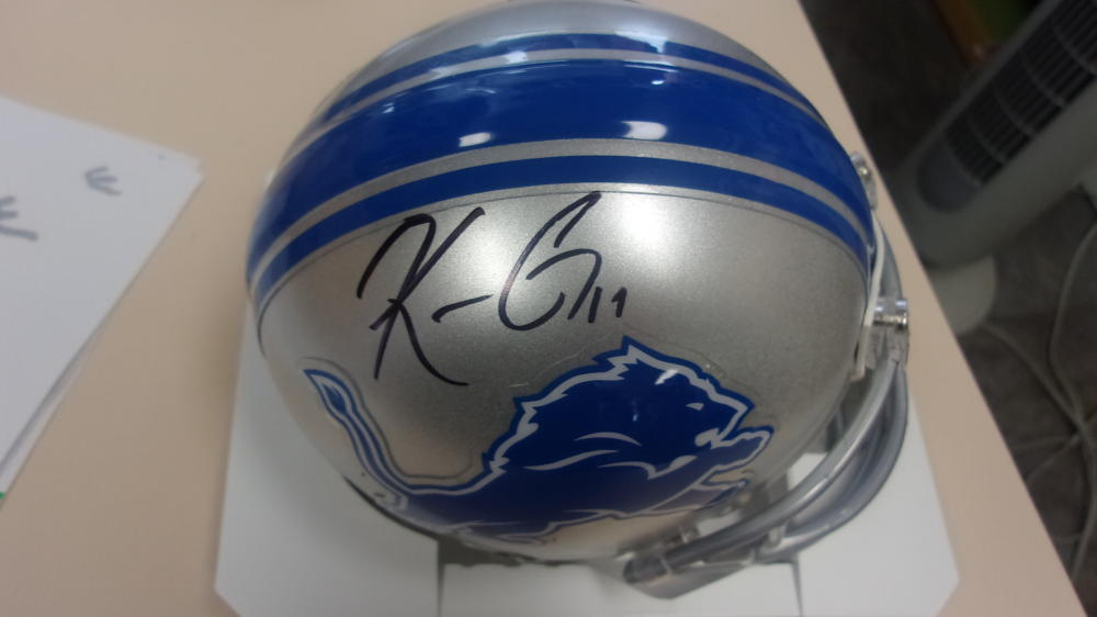 Kenny Golladay Detroit Lions  Signed   Mini Helmet COA