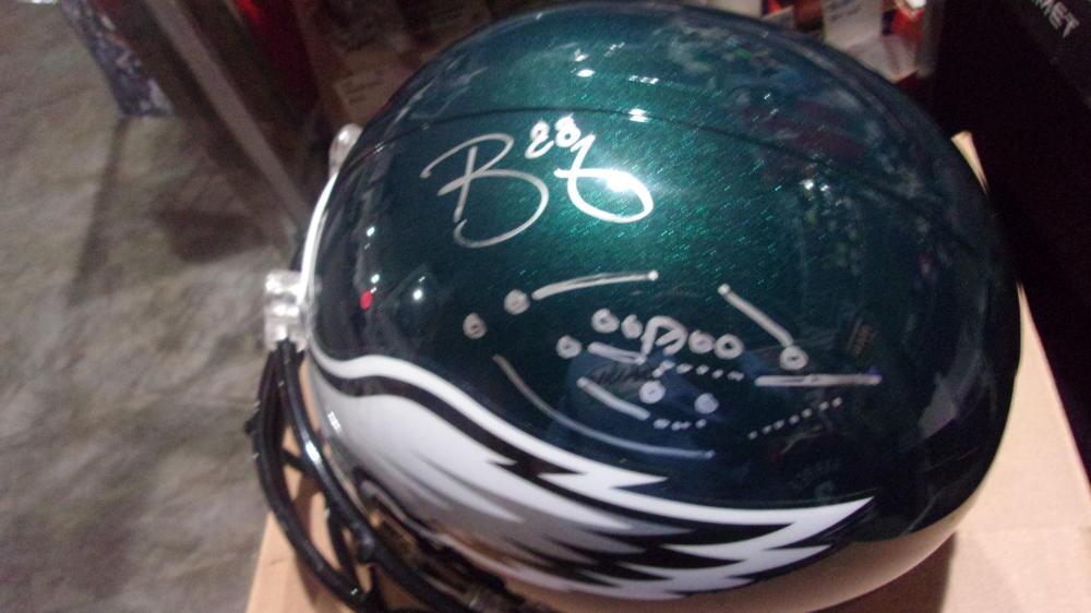Trey Burton Philadelphia Eagles Signed Full Size Replica Helmet COA Philly Special Drawing!