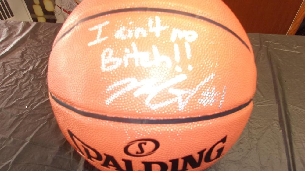 Mike Scott Philadelphia 76ers signed Full Size Basketball COA Inscription