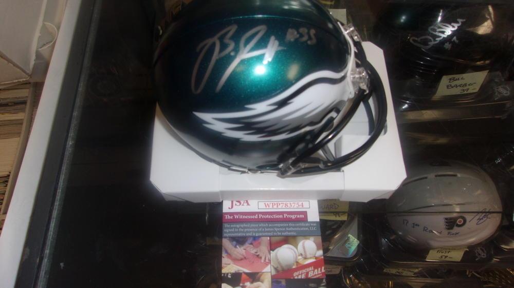 Boston Scott Philadelphia Eagles Signed  Mini Helmet JSA