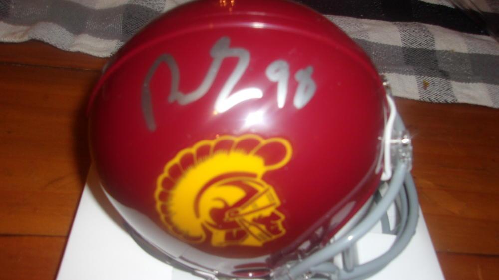 Jordan Simmons USC/Seattle Seahawks Signed  Mini Helmet COA