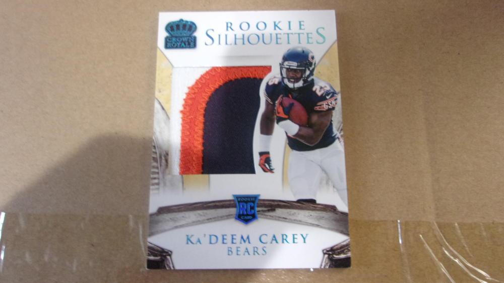Ka'Deem Carey Chicago Bears 2014 Crowne Royale Jersey Patch Rookie Card Mint #40/49