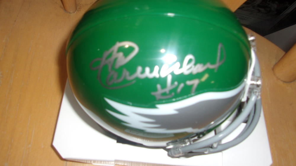 Harold Carmichael  Philadelphia Eagles  Signed  Throwback Mini Helmet JSA