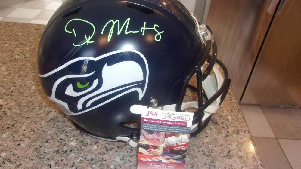 DK Metcalf Seattle Seahawks Signed FS Replica Helmet JSA