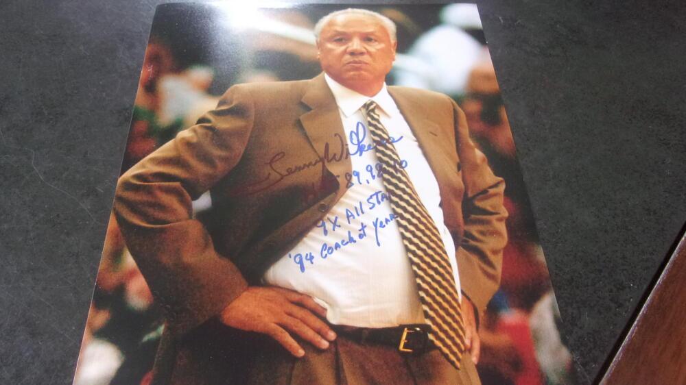 Lenny Wilkins Atlanta Hawks Signed 8x10 Photo COA Inscriptions 2