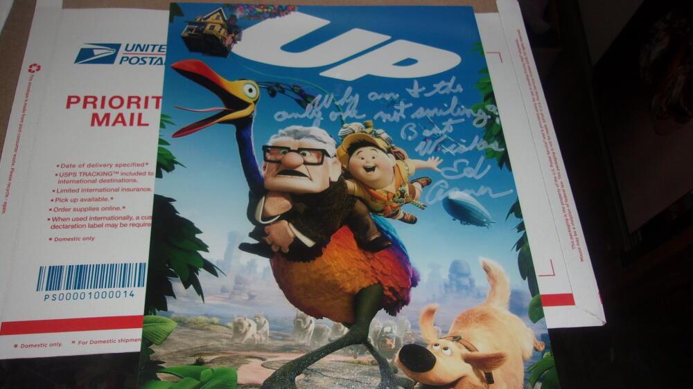Ed Asner Actor Signed UP 8x10 Photo Inscription COA 2