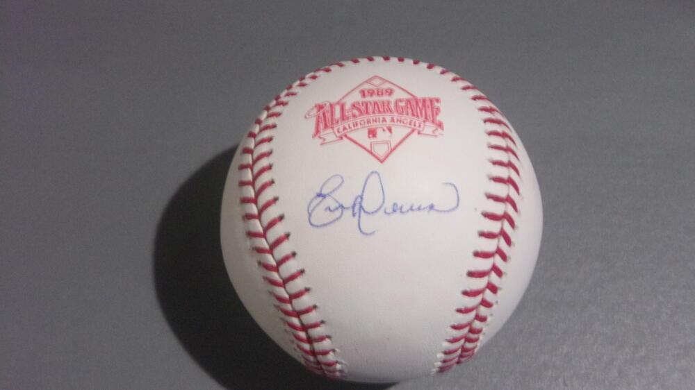 Eric Davis Cincinnati Reds signed 1989 All Star Baseball COA