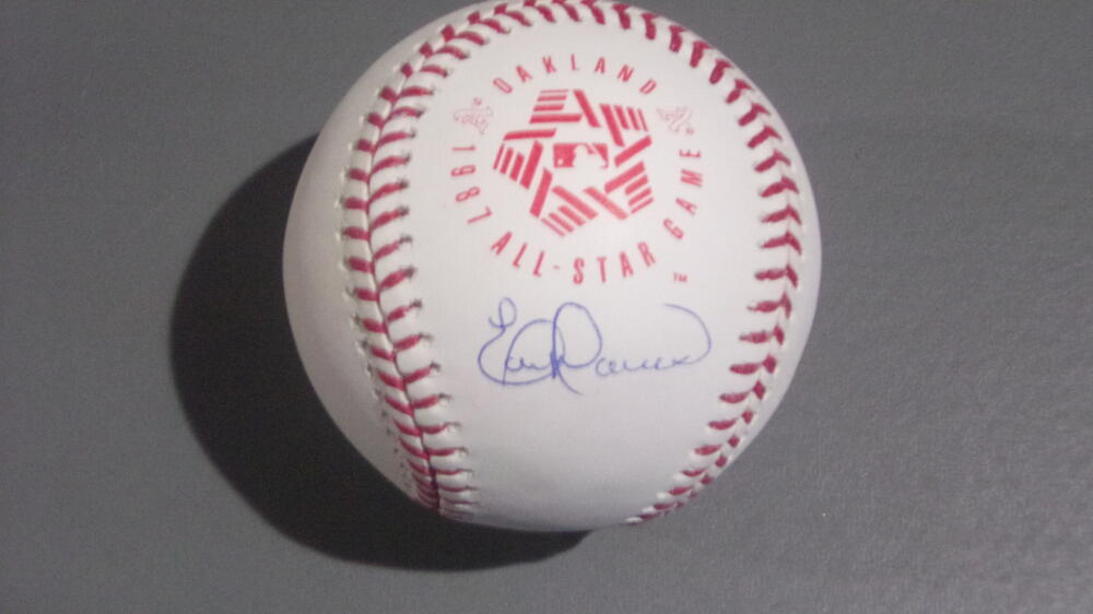 Eric Davis Cincinnati Reds signed 1988 All Star Baseball COA