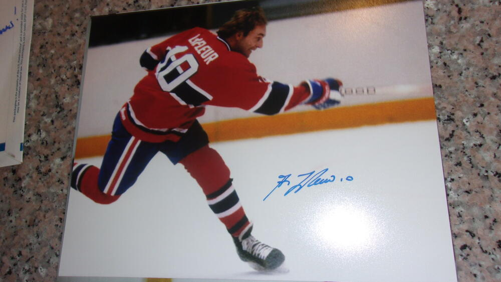 Guy Lafleur Montreal Canadiens  Signed 8x10 Photo COA 3