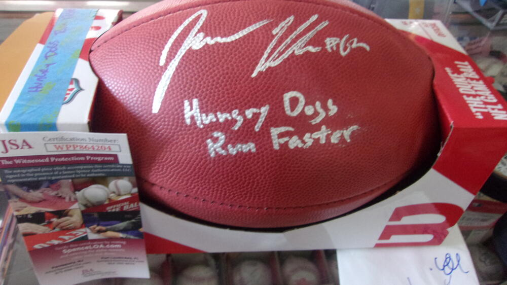 Jason Kelce Philadelphia Eagles Signed Official NFL Football JSA Inscription