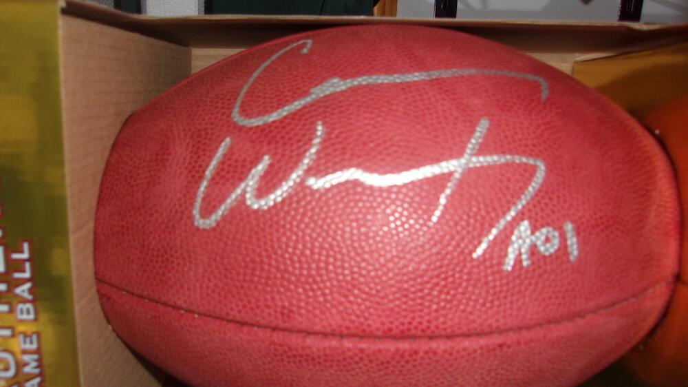 Carson Wentz Philadelphia Eagles Signed Official NFL Football Fanatics COA
